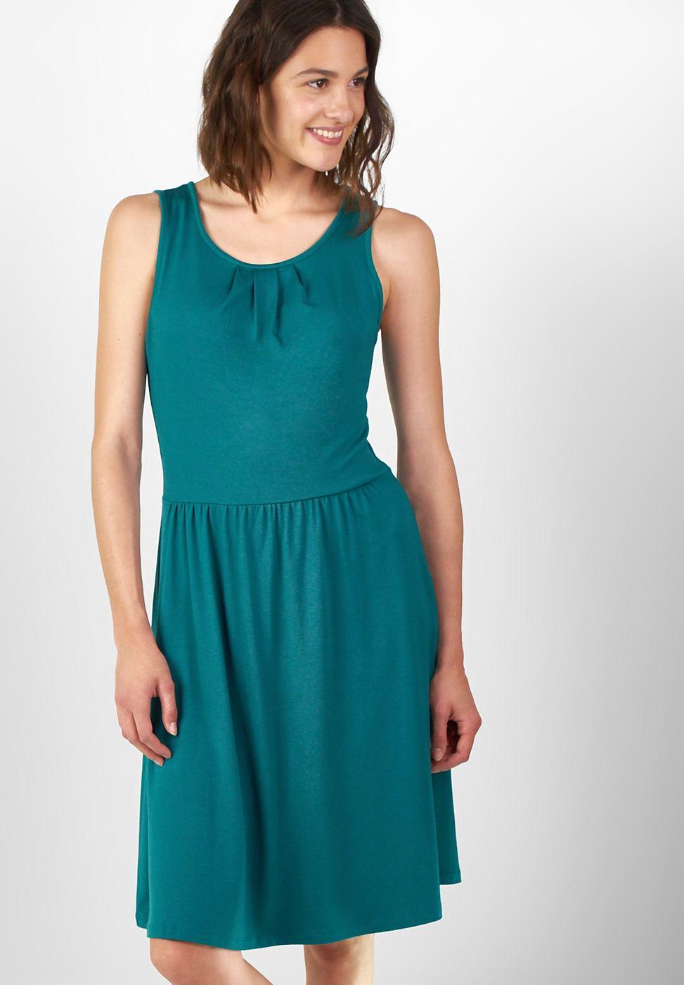 Street One Effen jersey jurk Selina groen