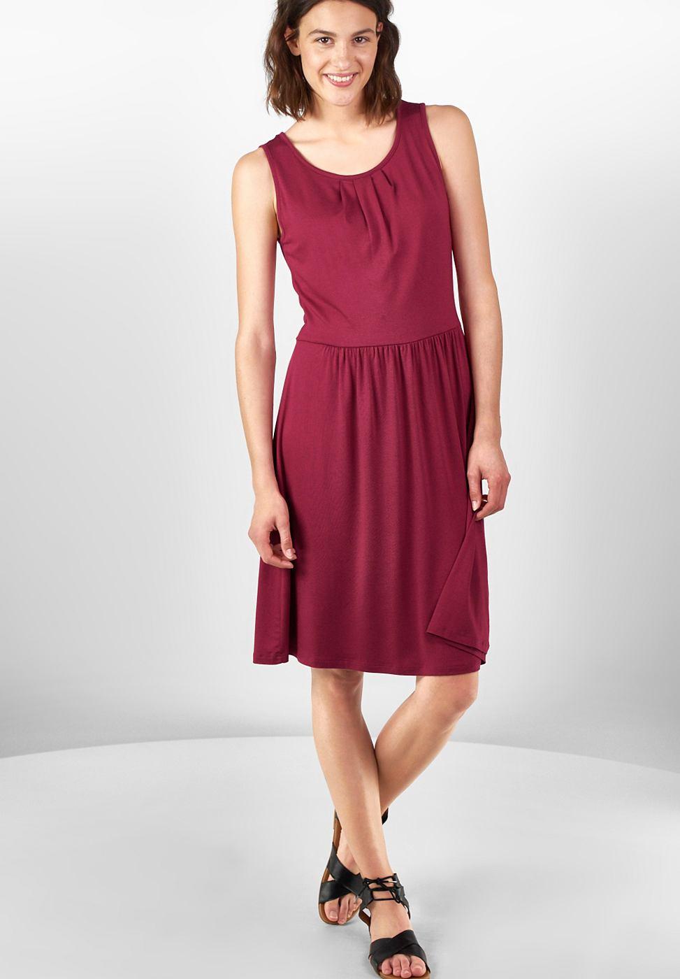 Street One Effen jersey jurk Selina rood