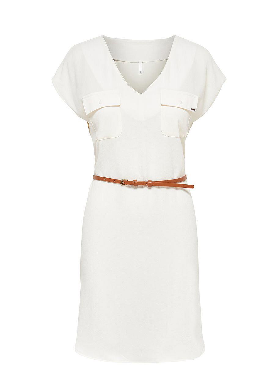 ONLY Ruimvallende jurk met korte mouwen wit
