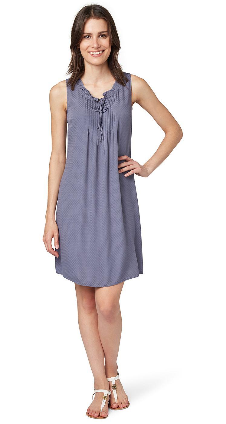 Tom Tailor jurk »dobby uni dress« blauw