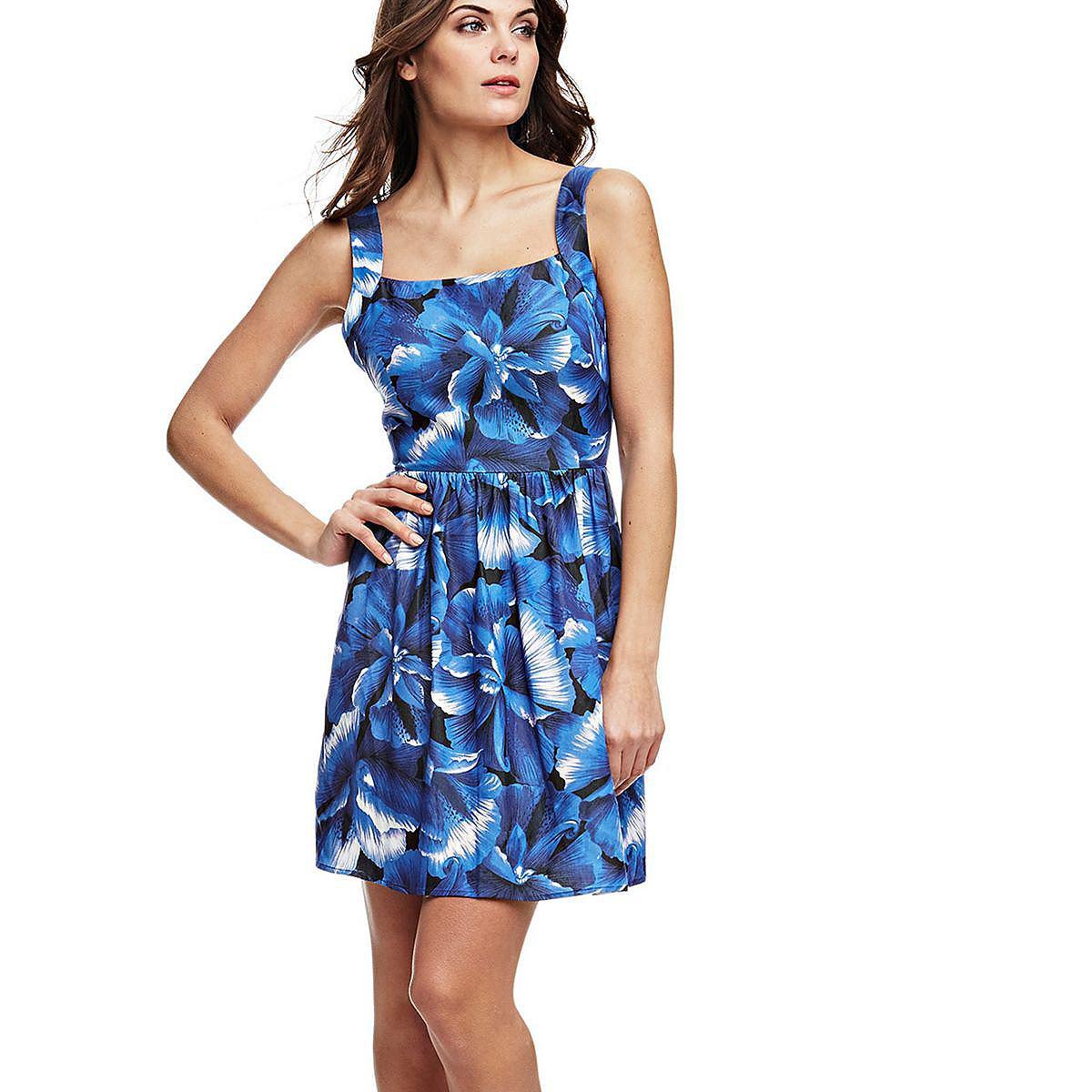 Guess jurk met knoop blauw