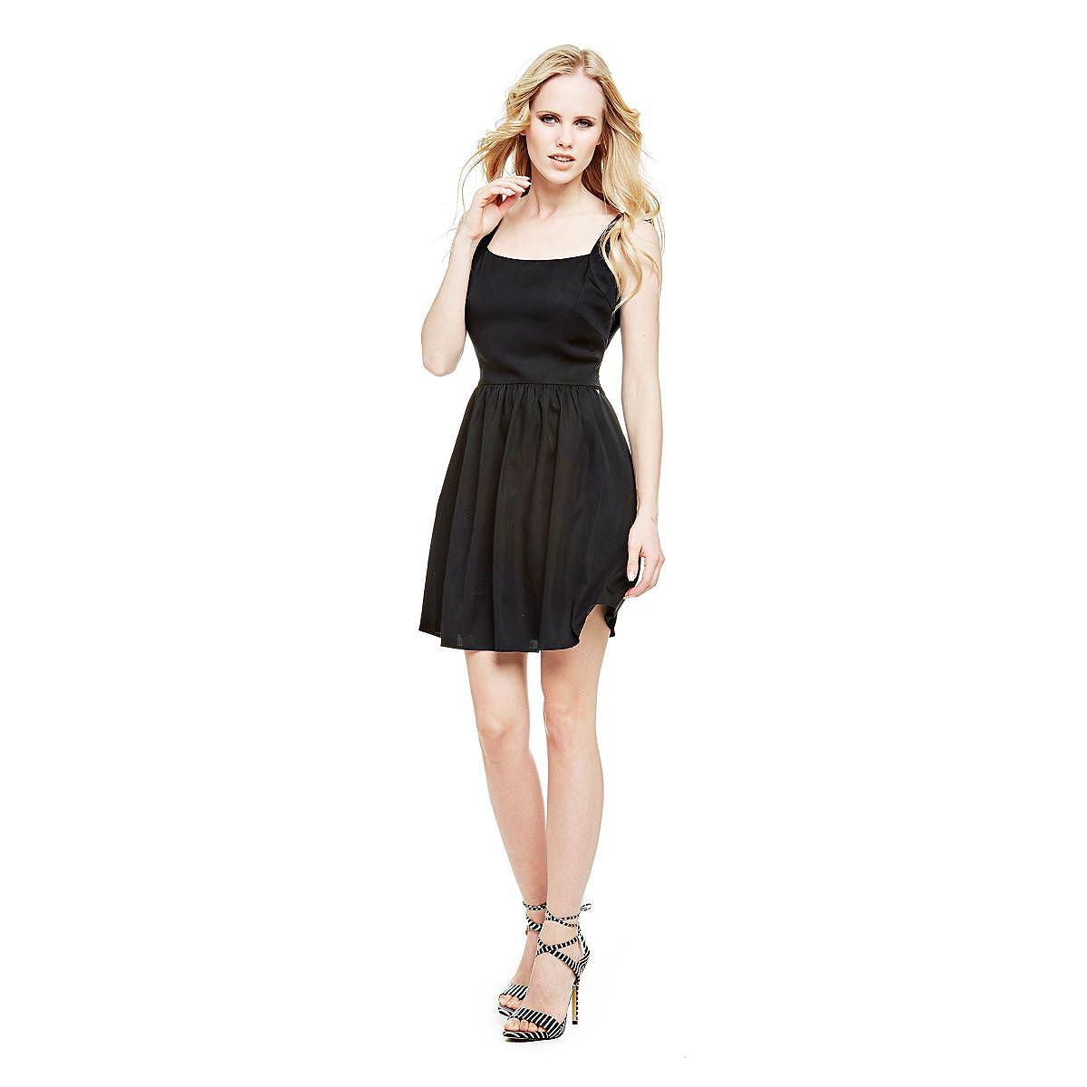 Guess jurk met knoop zwart