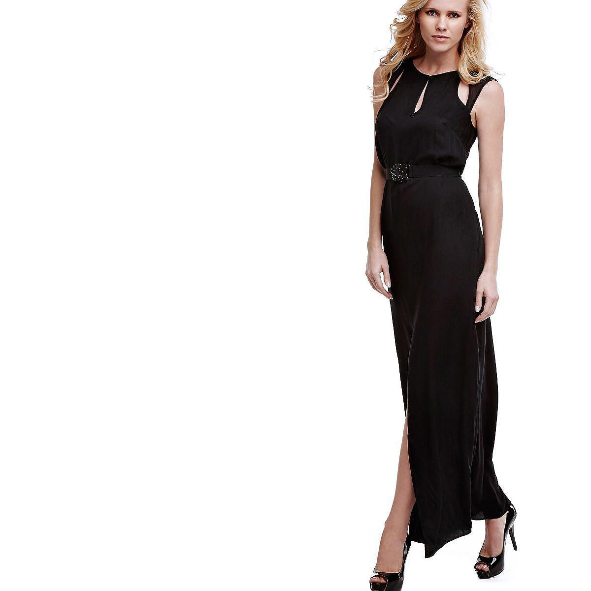 Guess lange jurk van viscose zwart