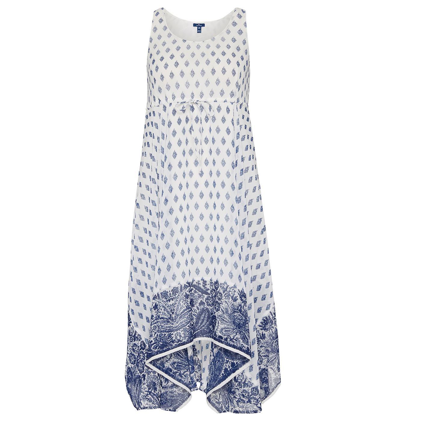 Tom Tailor jurk »Vrouwelijke zomerjurk met print« wit