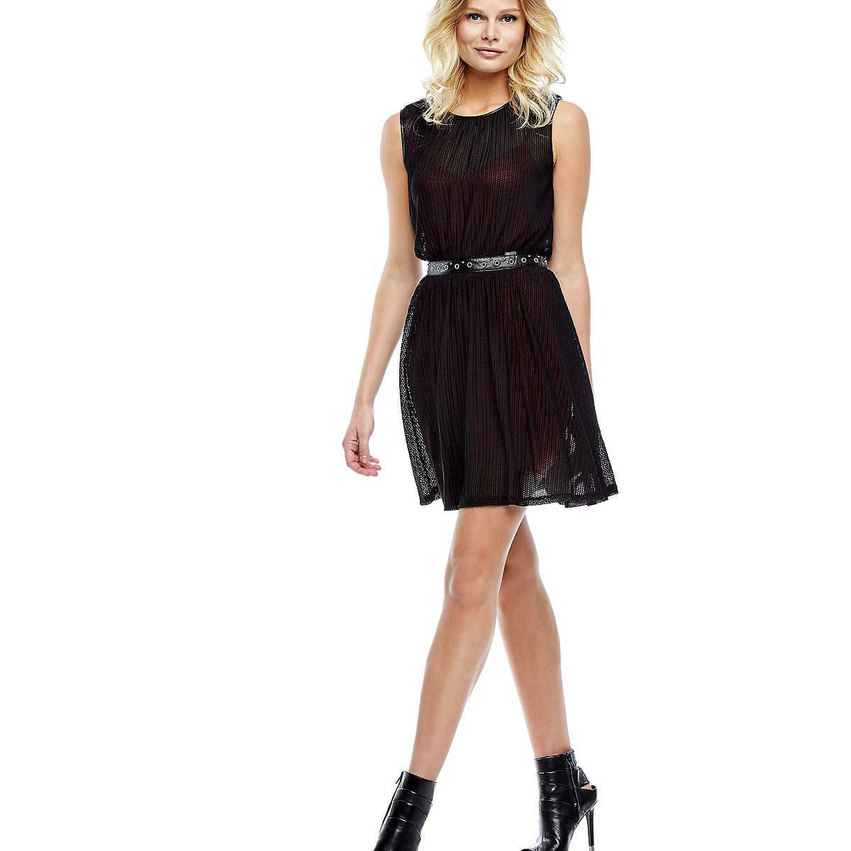 Guess jurk met ajourmotief zwart