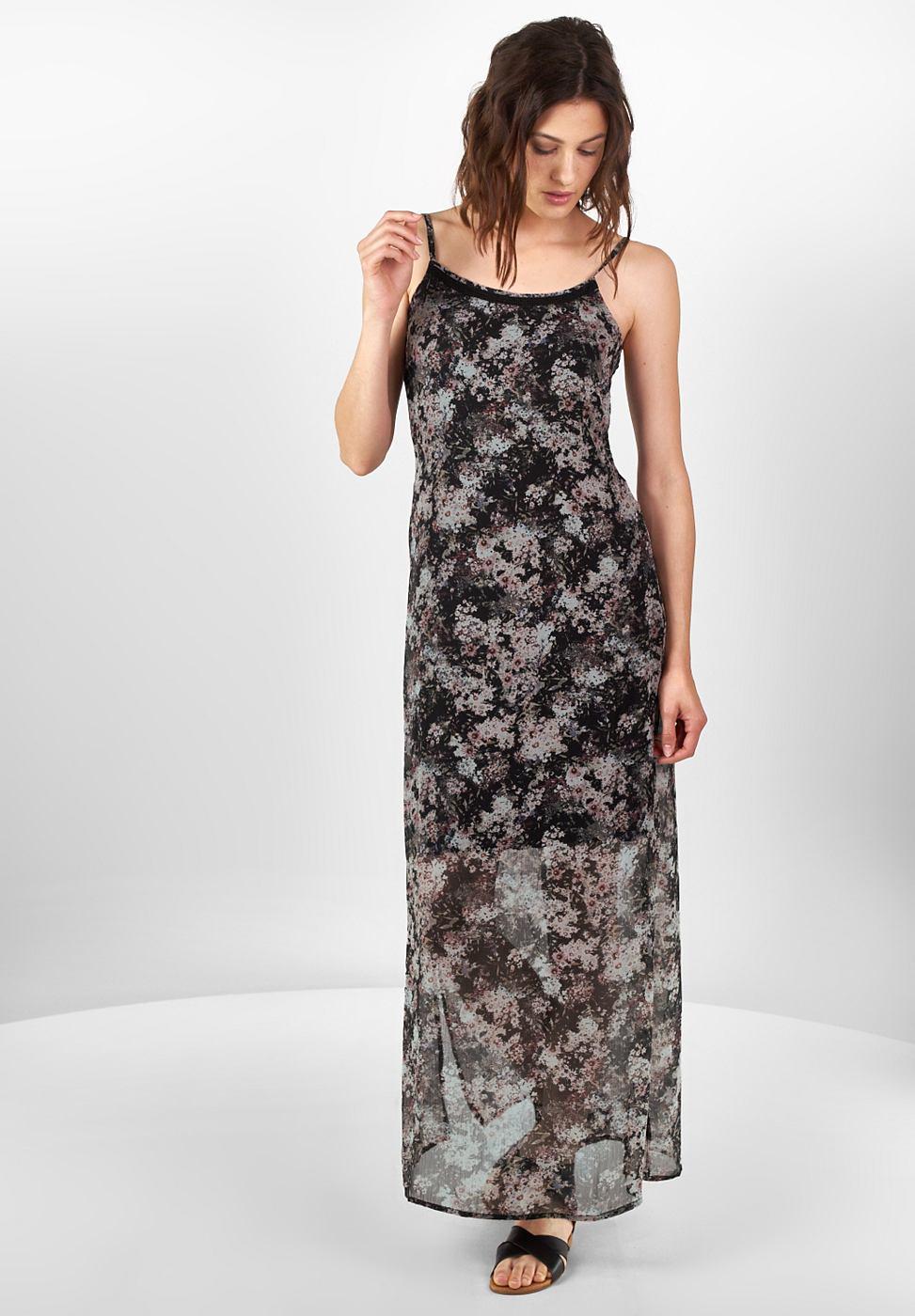 Street One jurk met bloemenprint Saskia zwart
