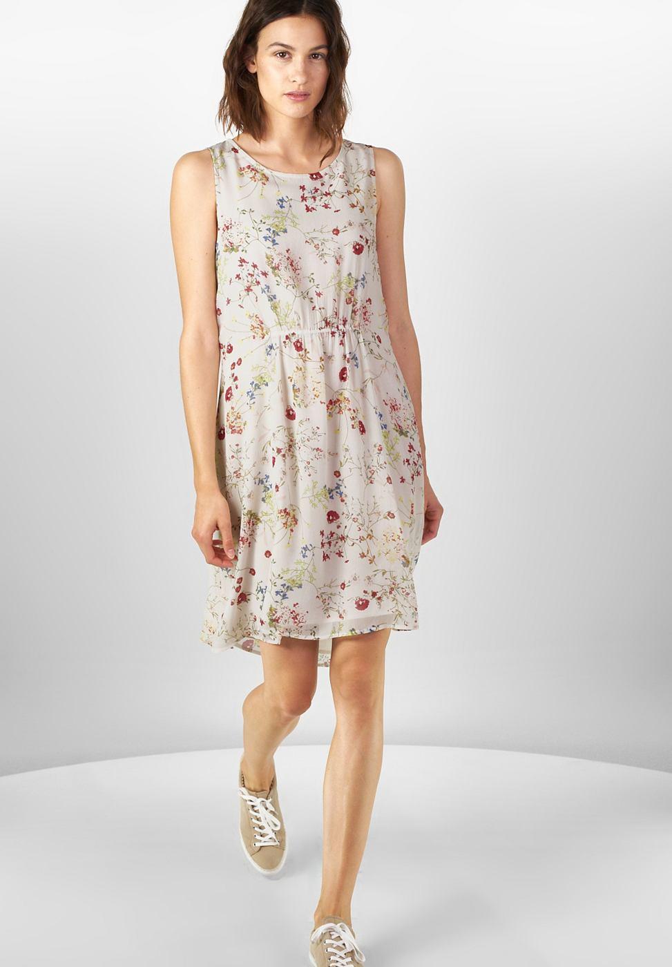 Street One jurk met bloemenprint Sandra wit