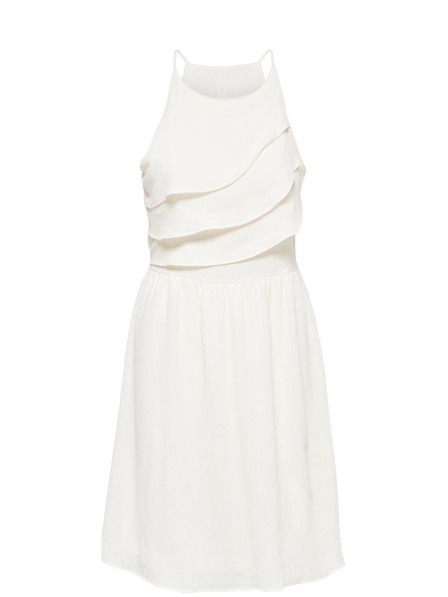 ONLY Gedetailleerde Mouwloze jurk wit