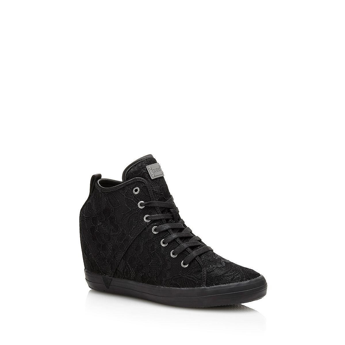 GUESS sneakers JILLY met sleehak en kant