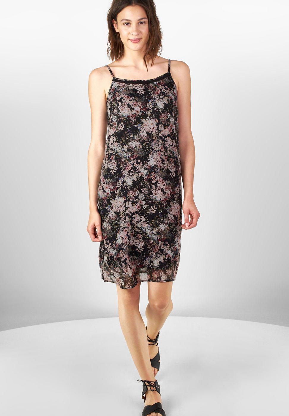 Street One jurk van chiffon Sassi zwart