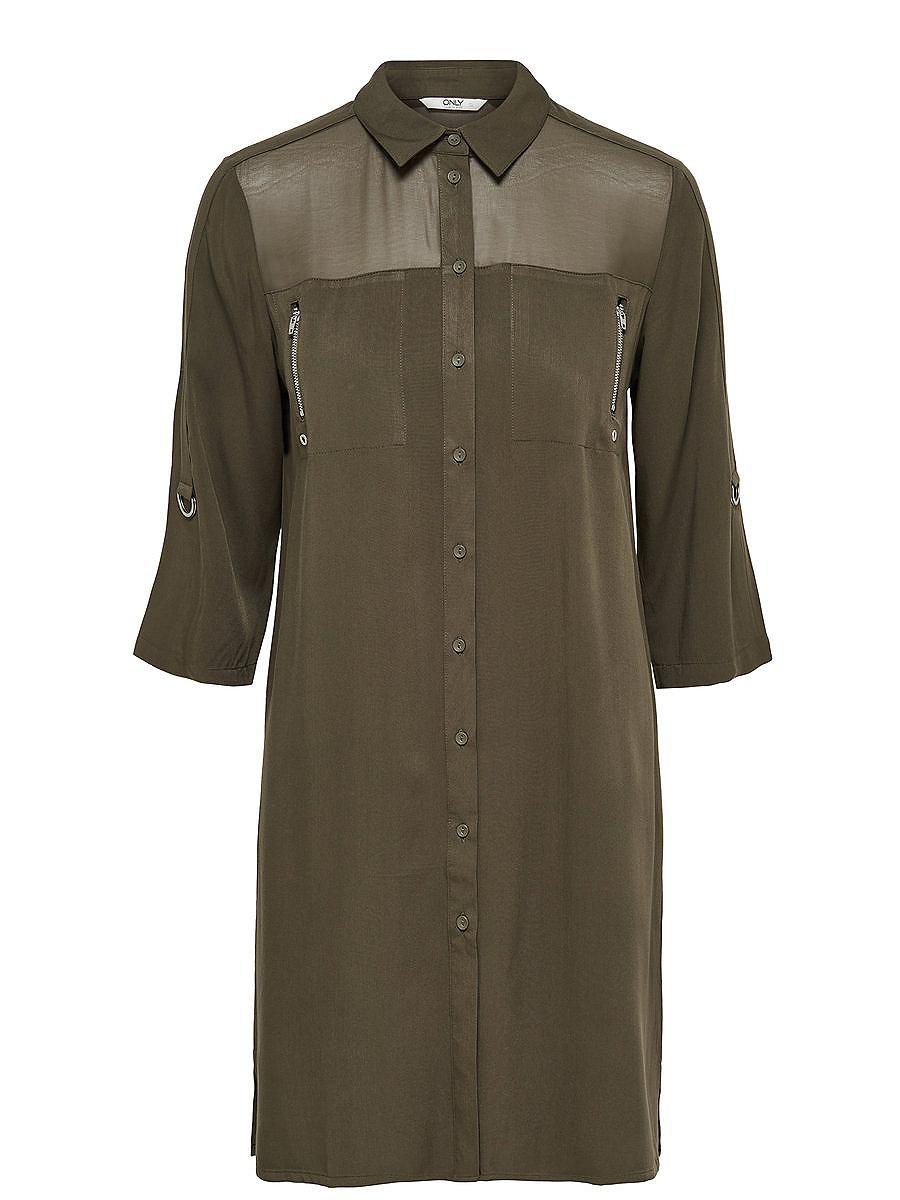 ONLY Gedetailleerd Overhemd met lange mouwen groen