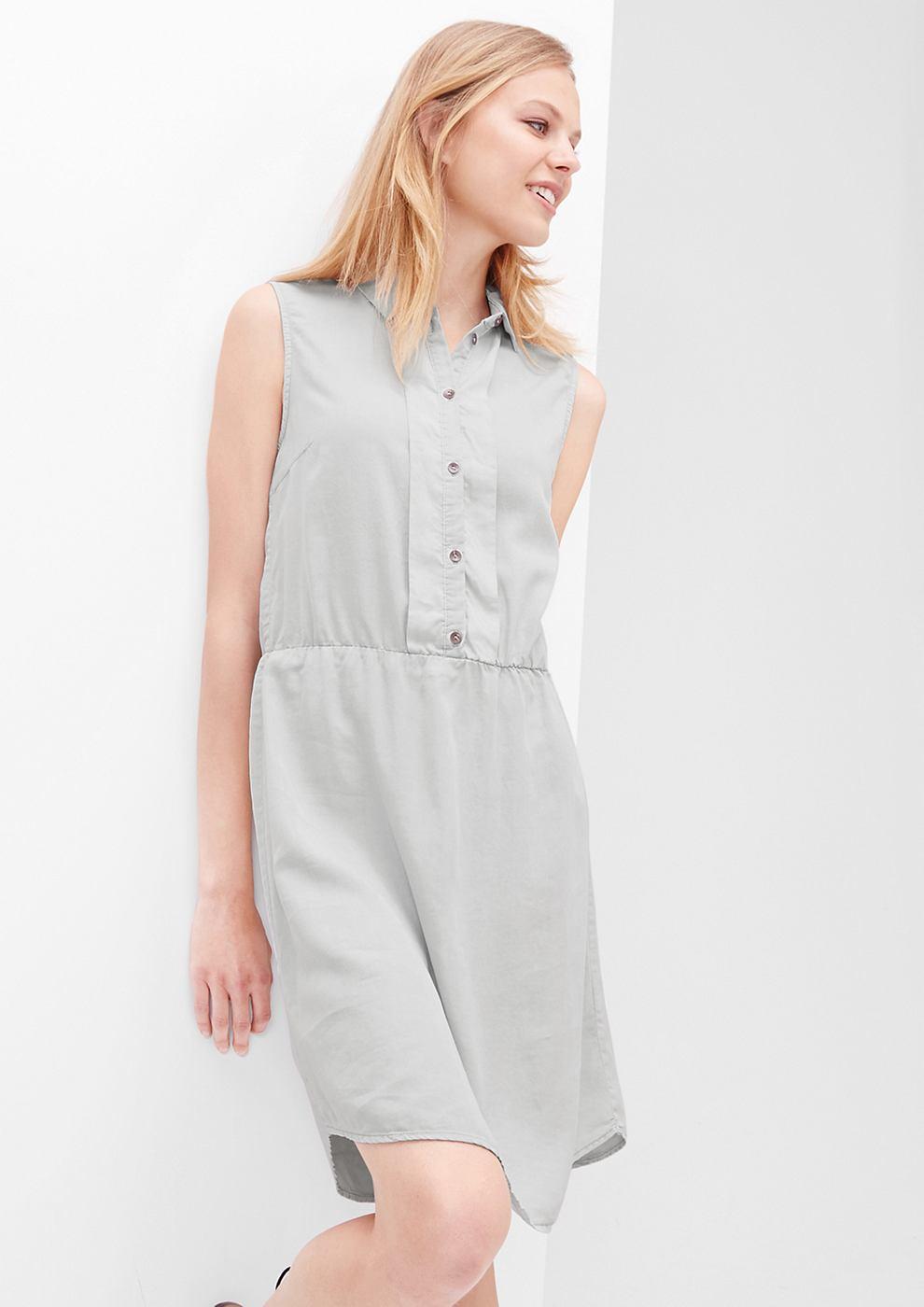 s.Oliver Fluweelzachte jurk met een garment-washed effect grijs