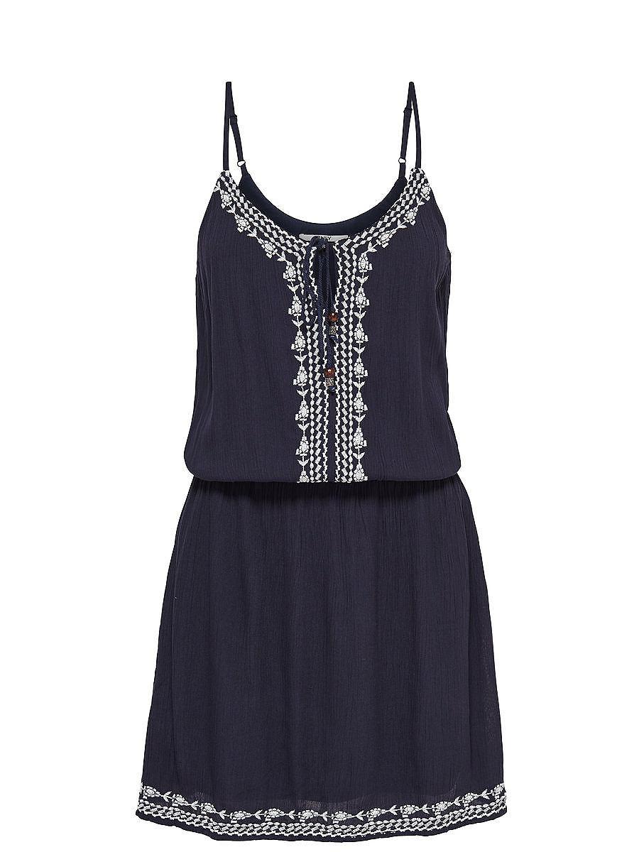 ONLY Print Korte jurk blauw