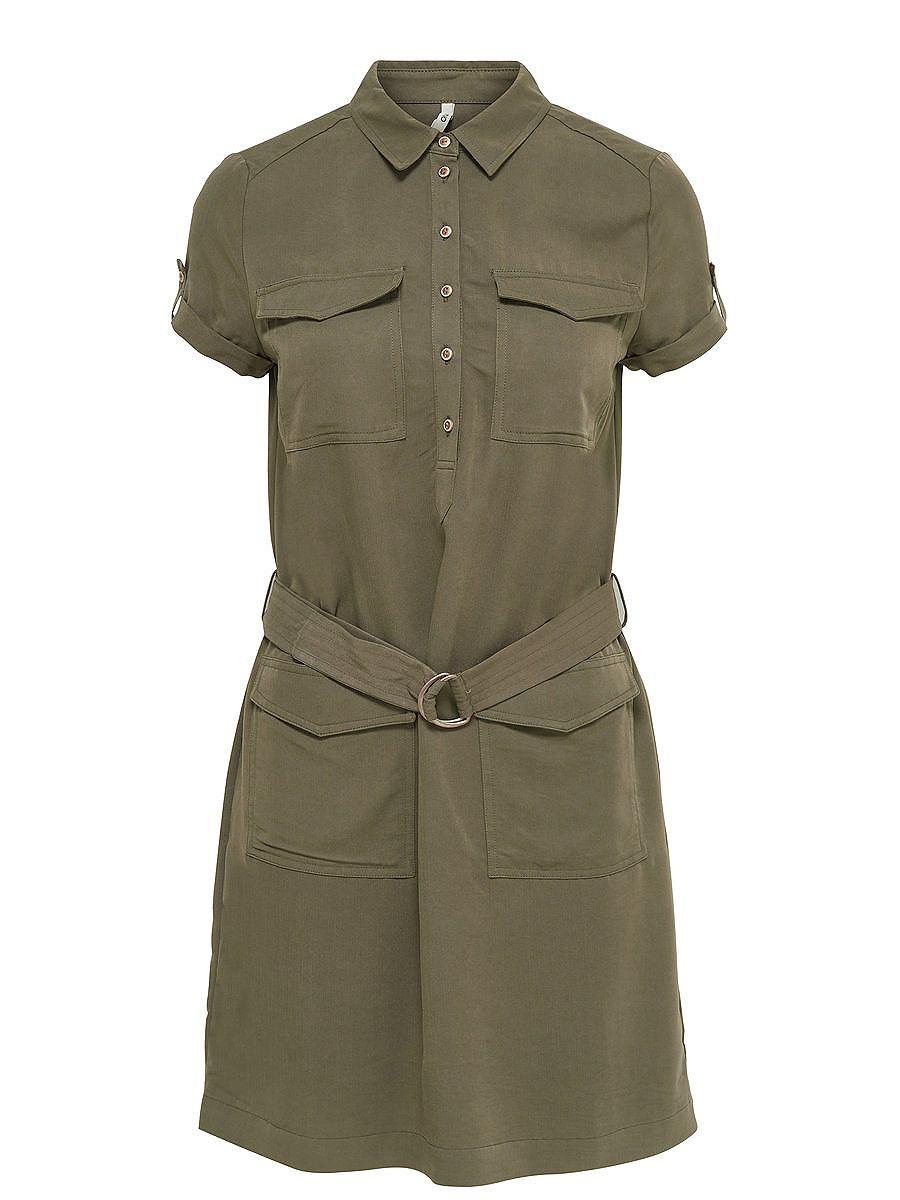 ONLY Cargo jurk met korte mouwen groen