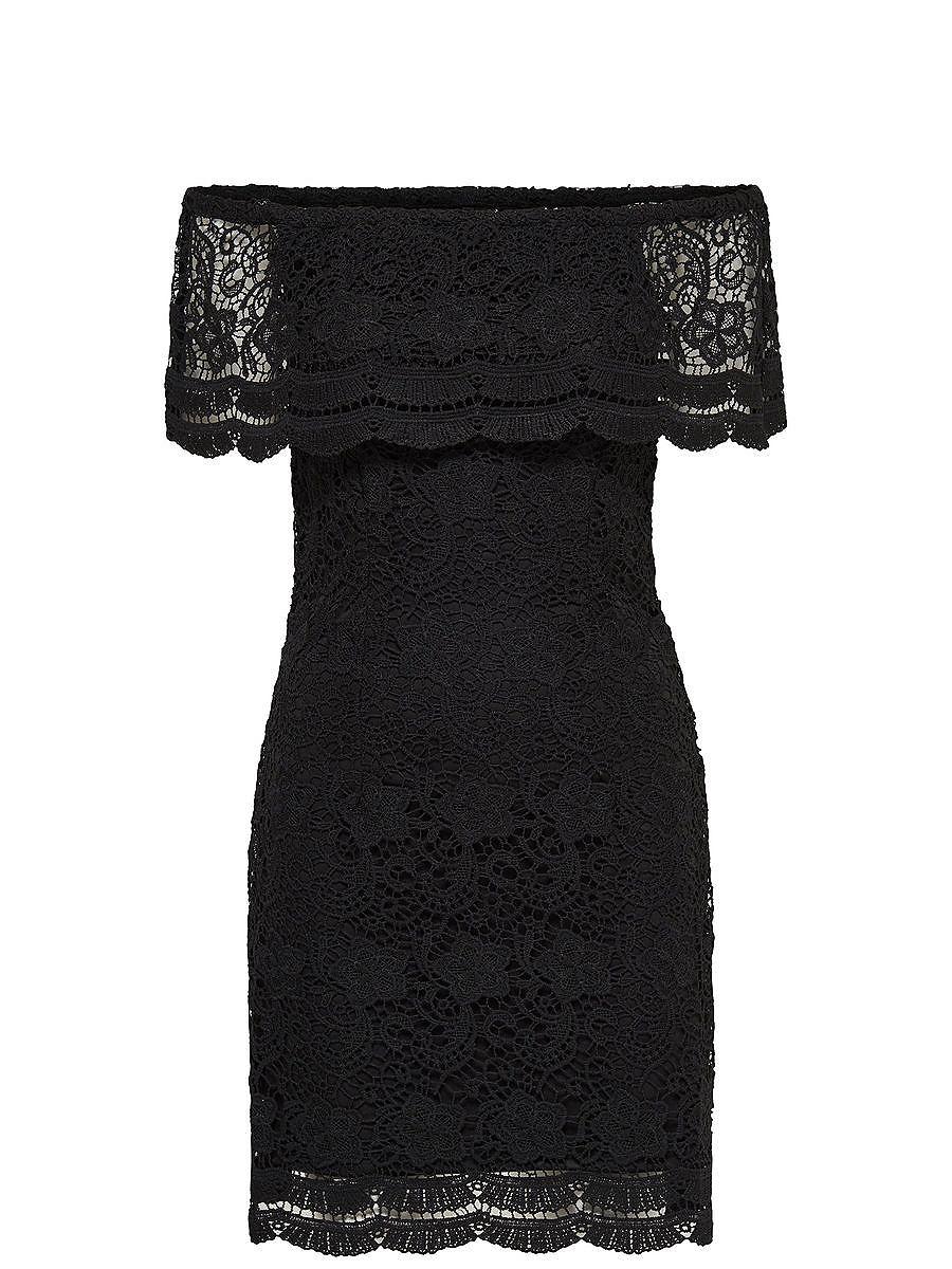 ONLY Off-shoulder Korte jurk zwart