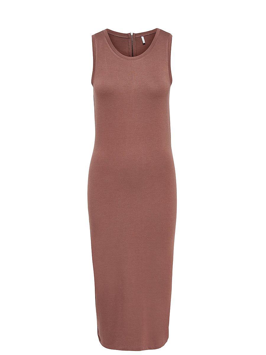 ONLY Ruimvallende Mouwloze jurk bruin