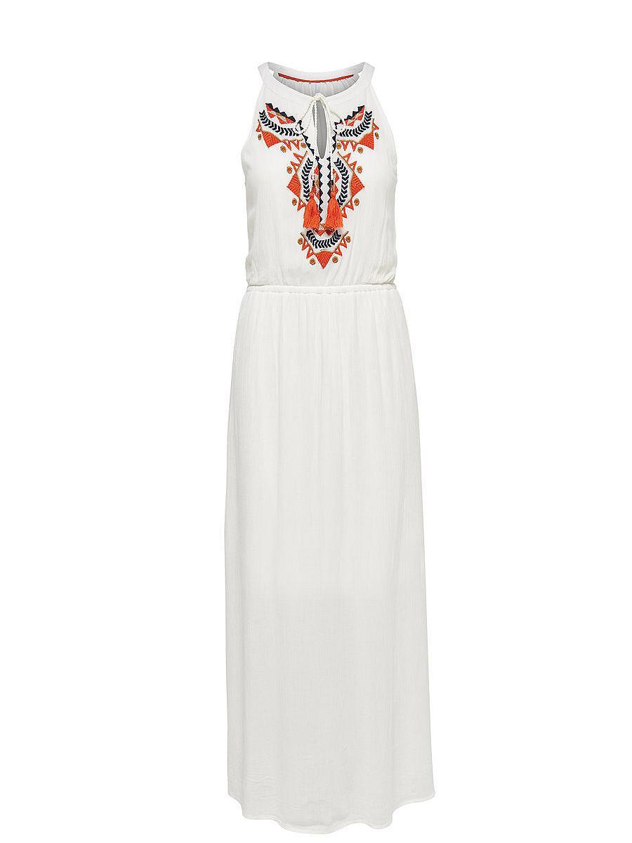 ONLY Mouwloze Maxi jurk wit