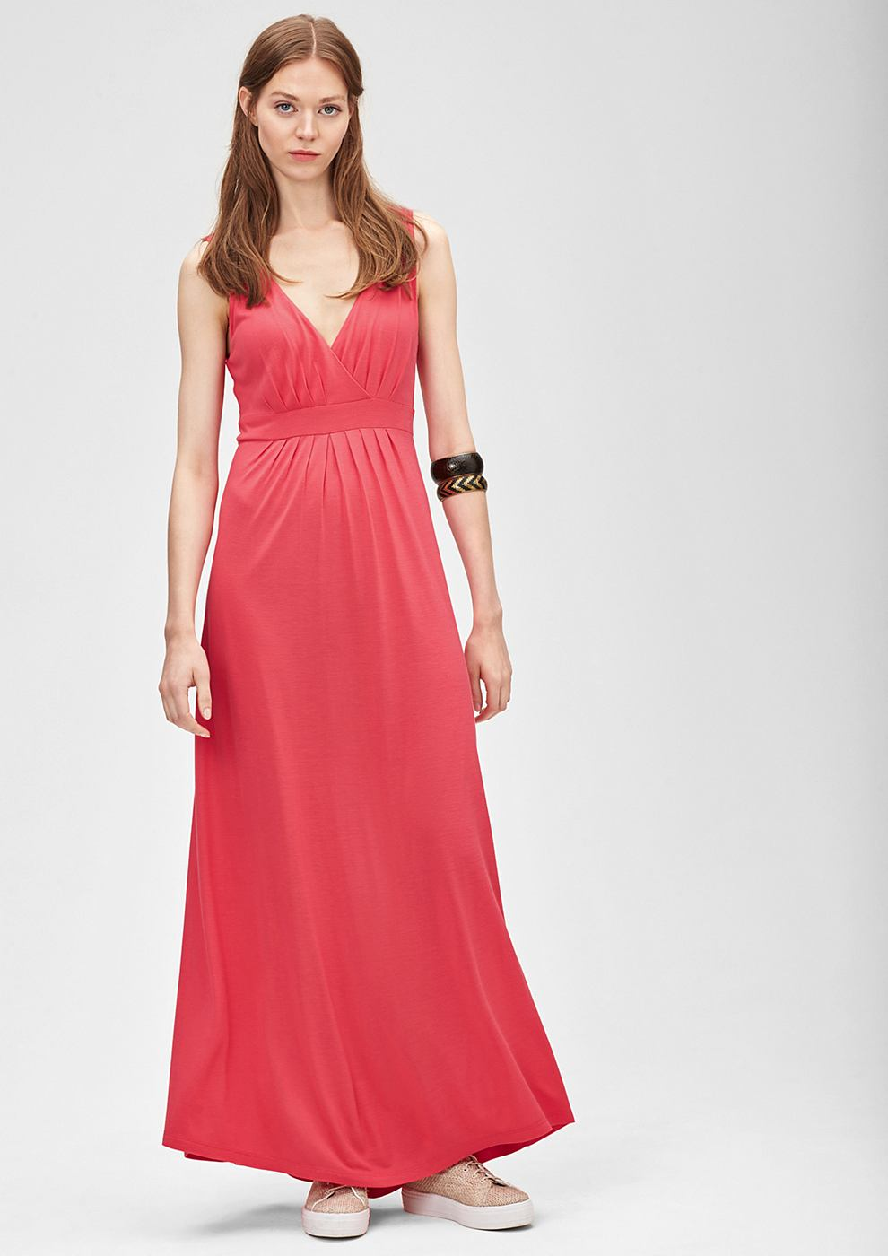 s.Oliver Maxi empire dress rood