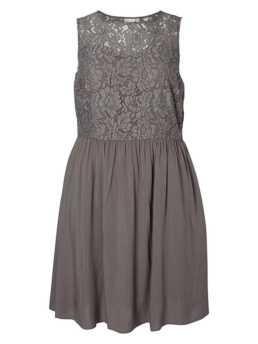 Junarose Woven jurk grijs