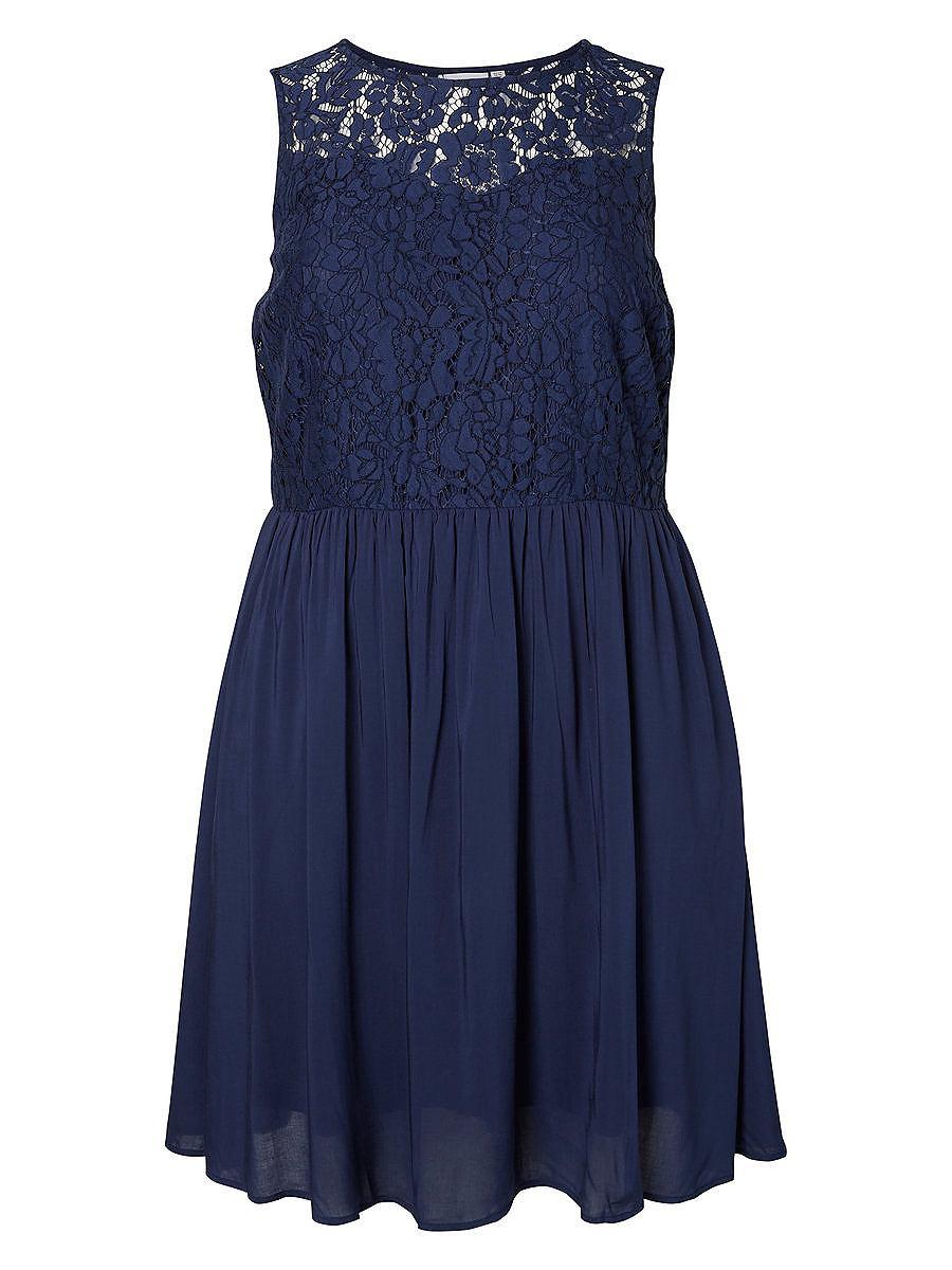 Junarose Woven jurk blauw