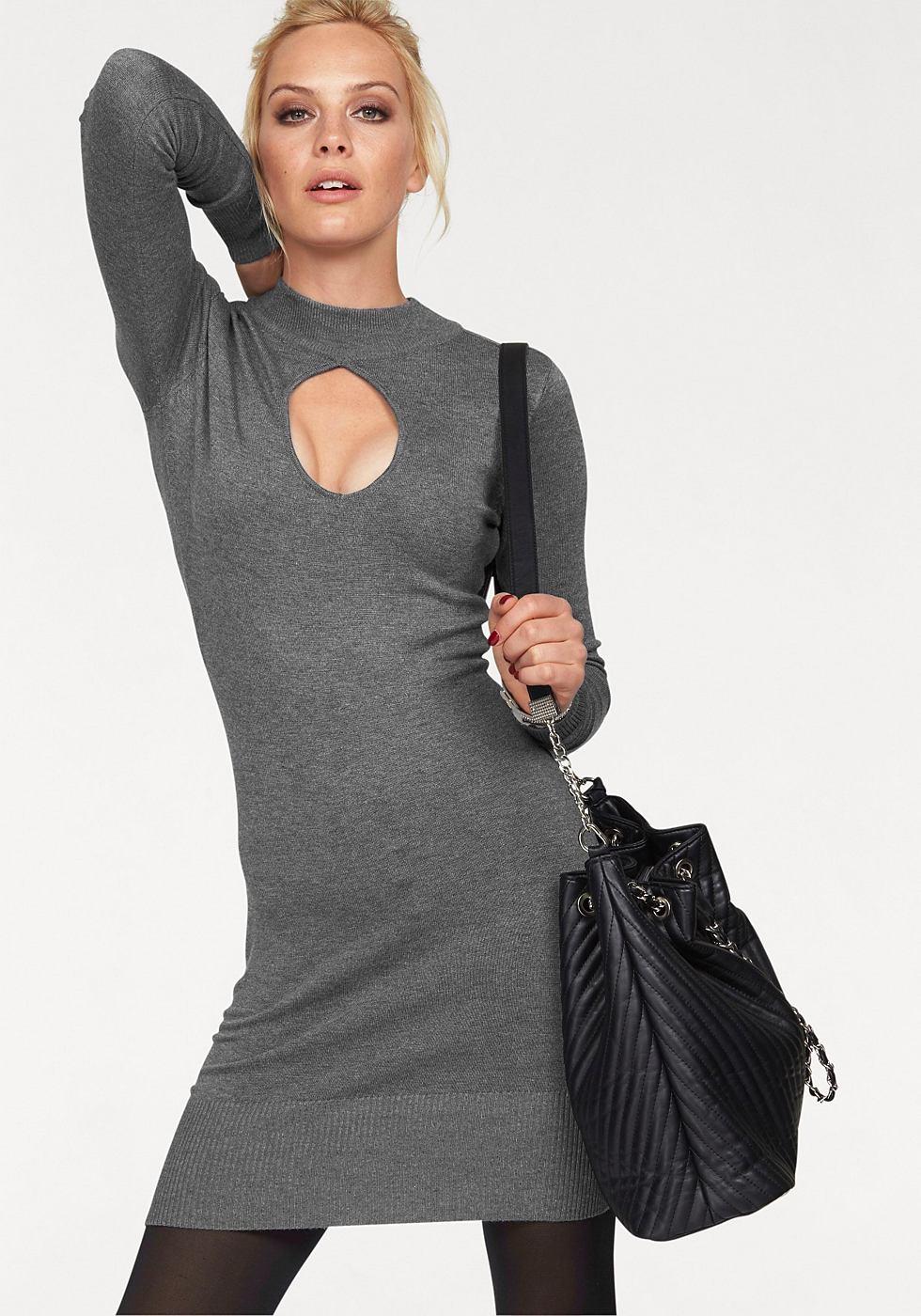 Melrose tricotjurk grijs