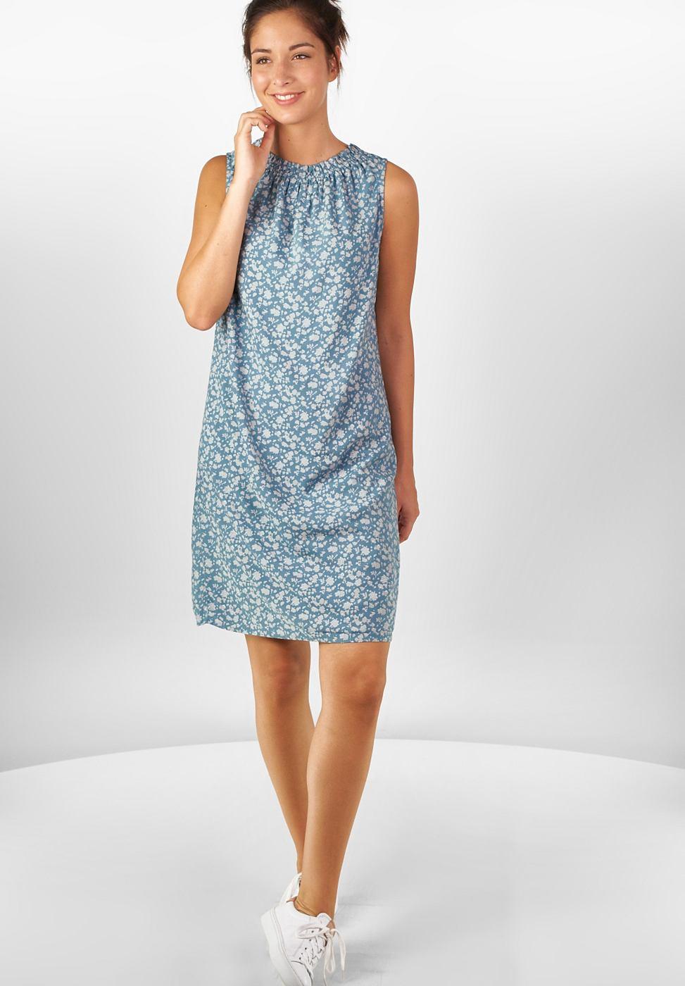 Street One jurk met bloemenprint Sina blauw
