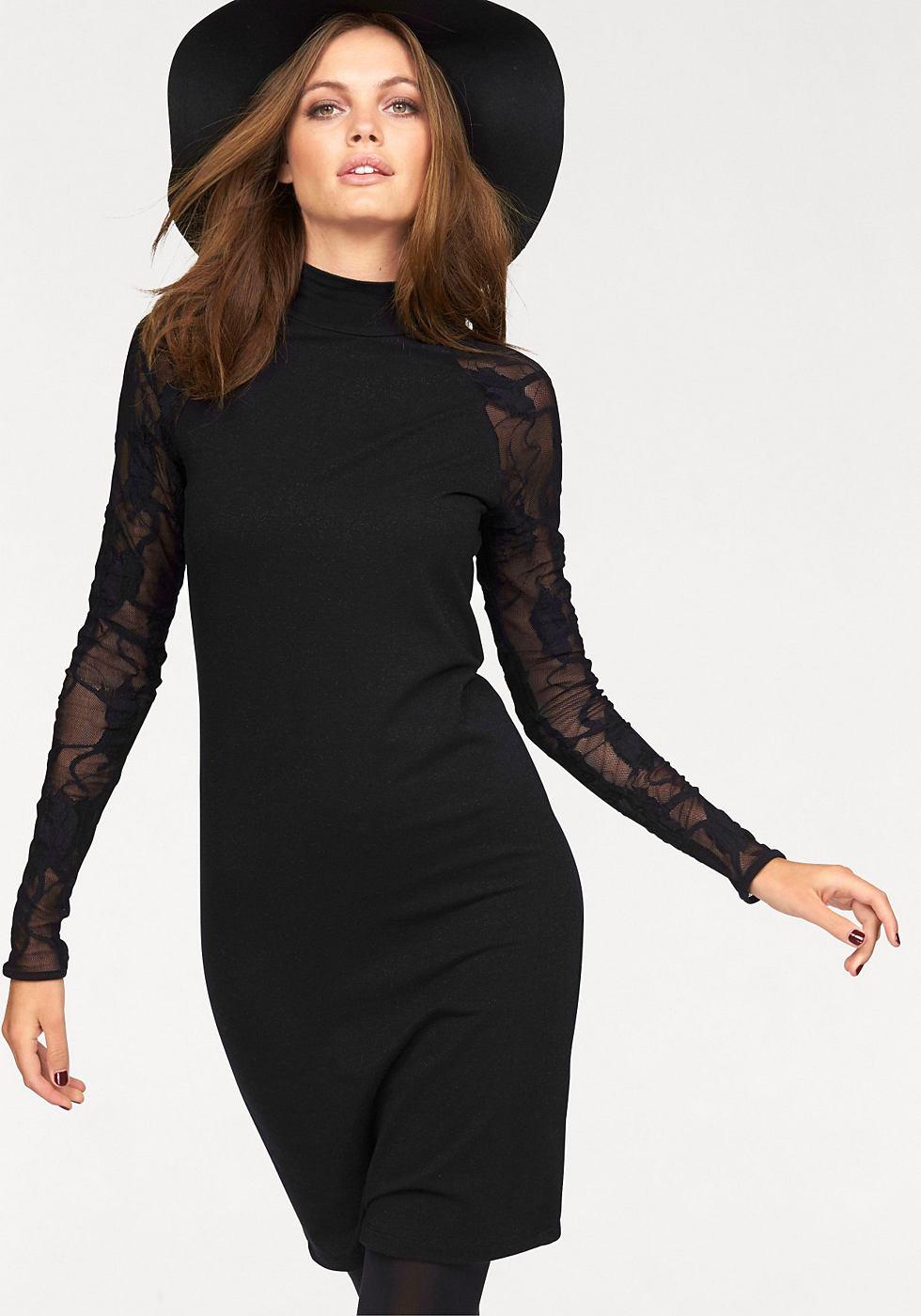 ONLY kanten jurk »NEW CINDERELLA« zwart