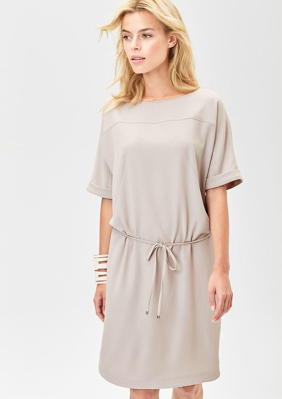 s.Oliver Premium Casual jurk met strikceintuur bruin