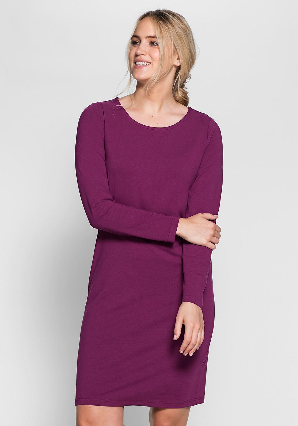 Sheego Casual basic jurk rood