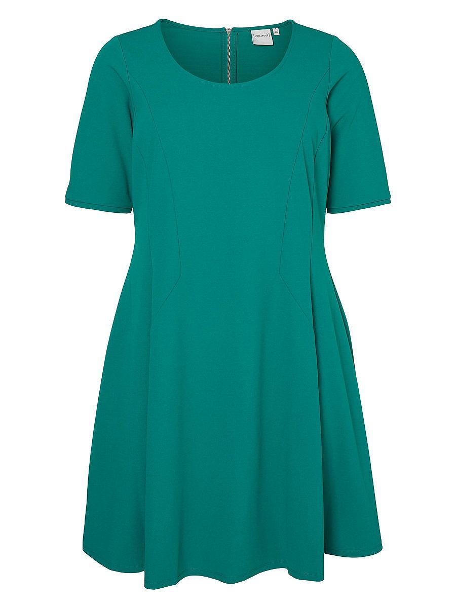 Junarose 2/4-mouw jurk groen