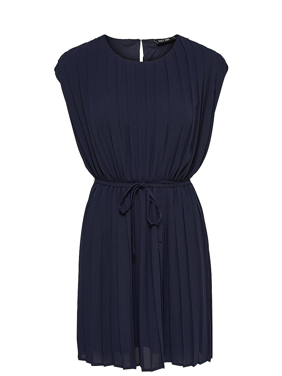 ONLY Gedetailleerde jurk met korte mouwen blauw
