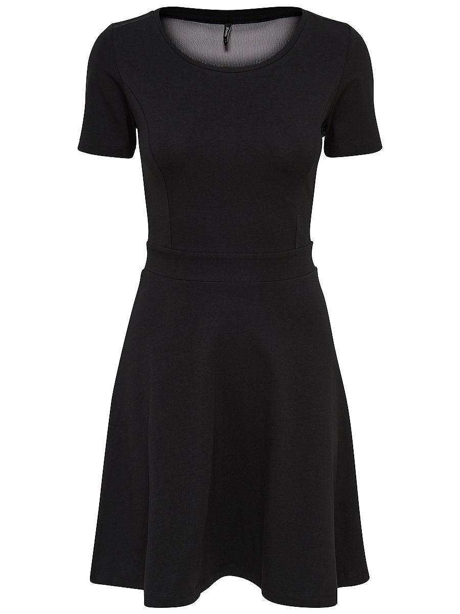 ONLY Gedetailleerde jurk met korte mouwen zwart