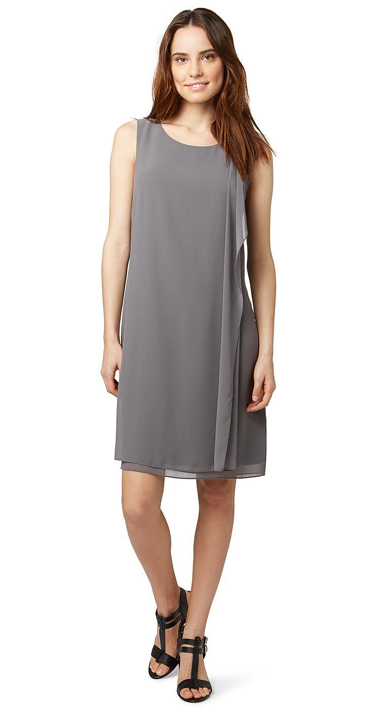 Tom Tailor jurk »elegant summer dress« grijs