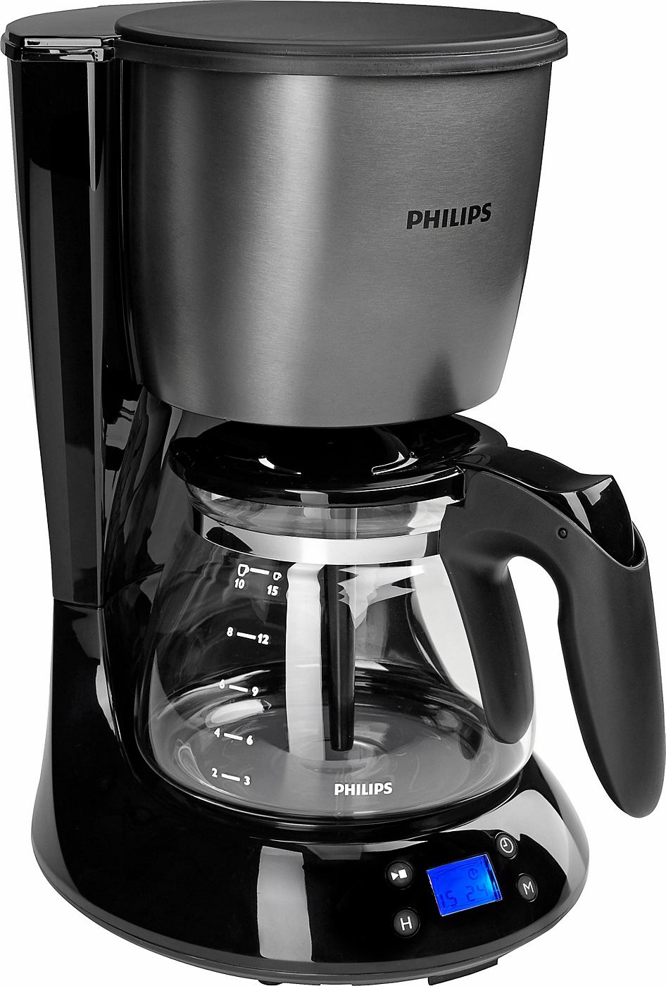 PHILIPS koffiezetapparaat HD7459/81 Daily Metal Collection, glazen kan (1,2 l), titanium