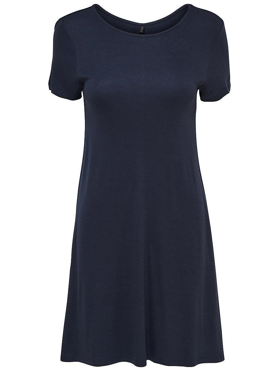 ONLY Ruimvallende jurk met korte mouwen blauw