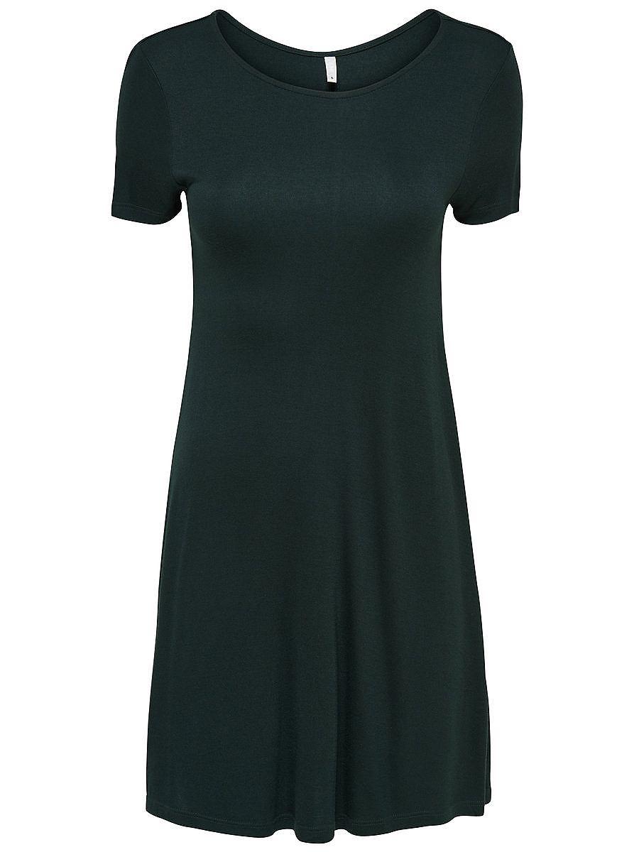 ONLY Ruimvallende jurk met korte mouwen groen