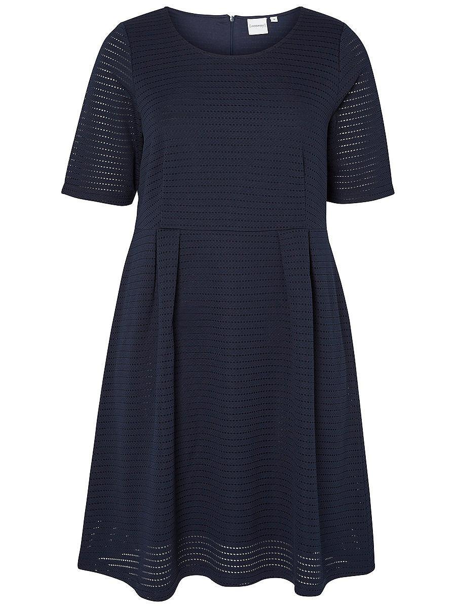 Junarose 2/4-mouw jurk blauw