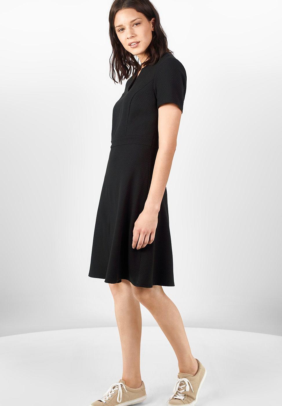 Street One Vrouwelijke jersey jurk Lena zwart