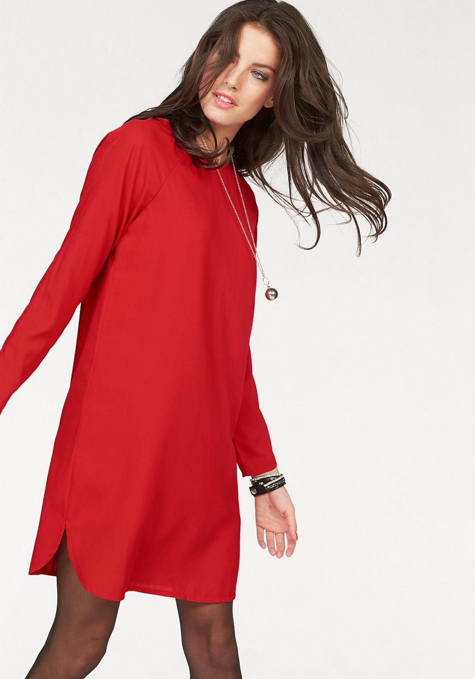 Aniston kokerjurk rood