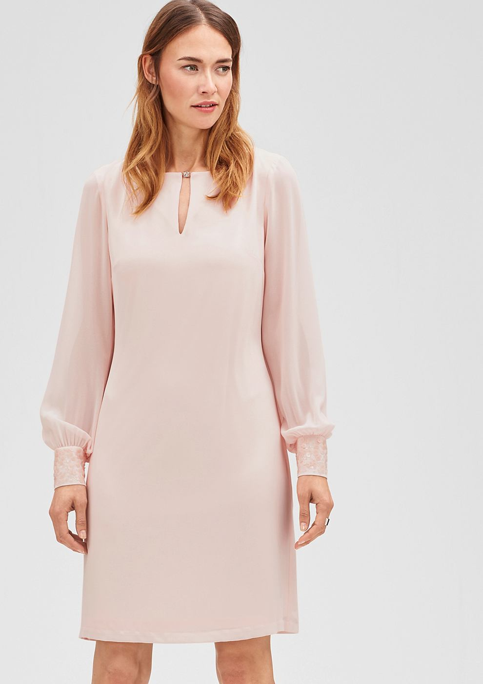 s.Oliver Premium Elegante jurk van chiffon rood