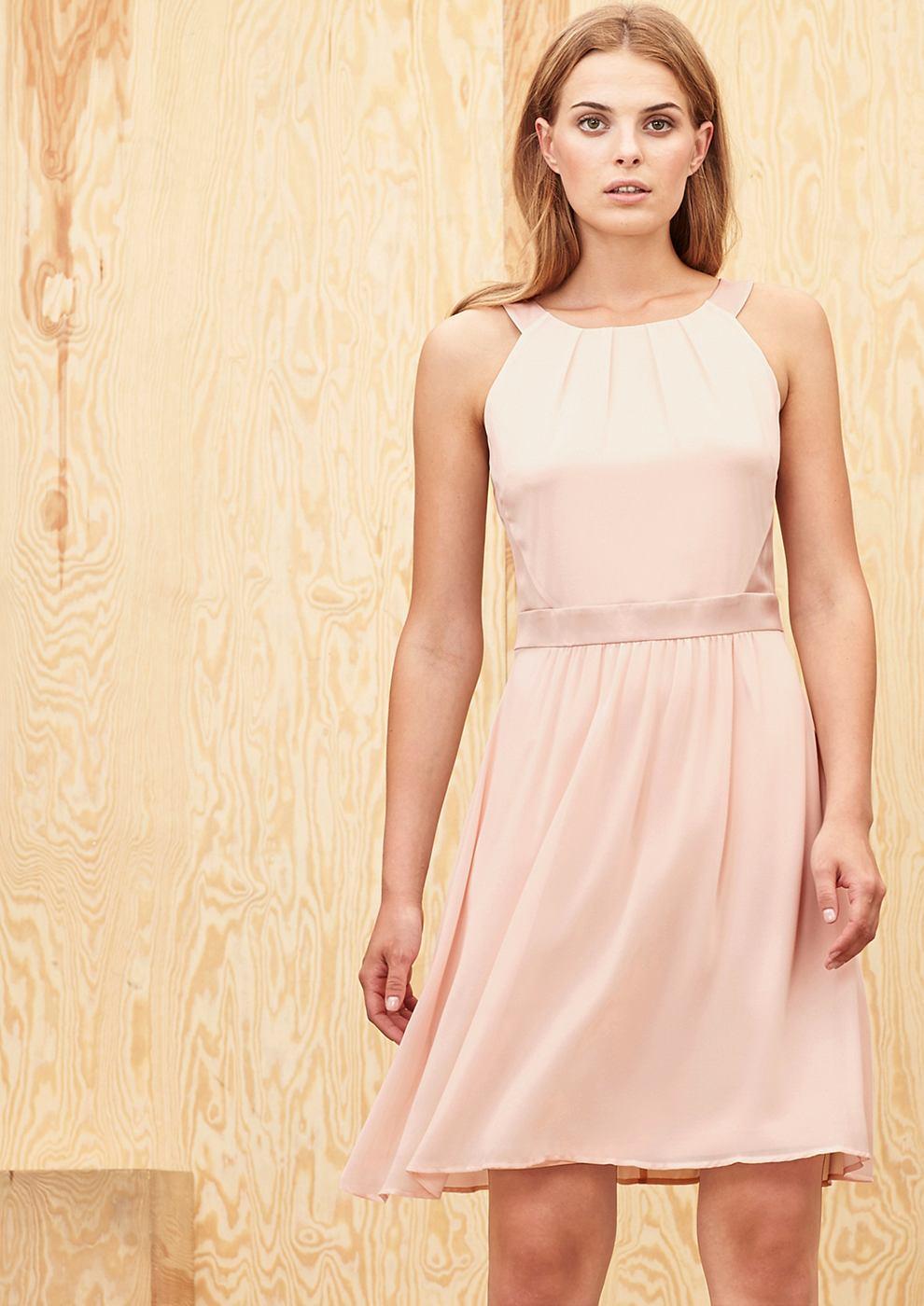 s.Oliver Premium Zwierige chiffon jurk rood