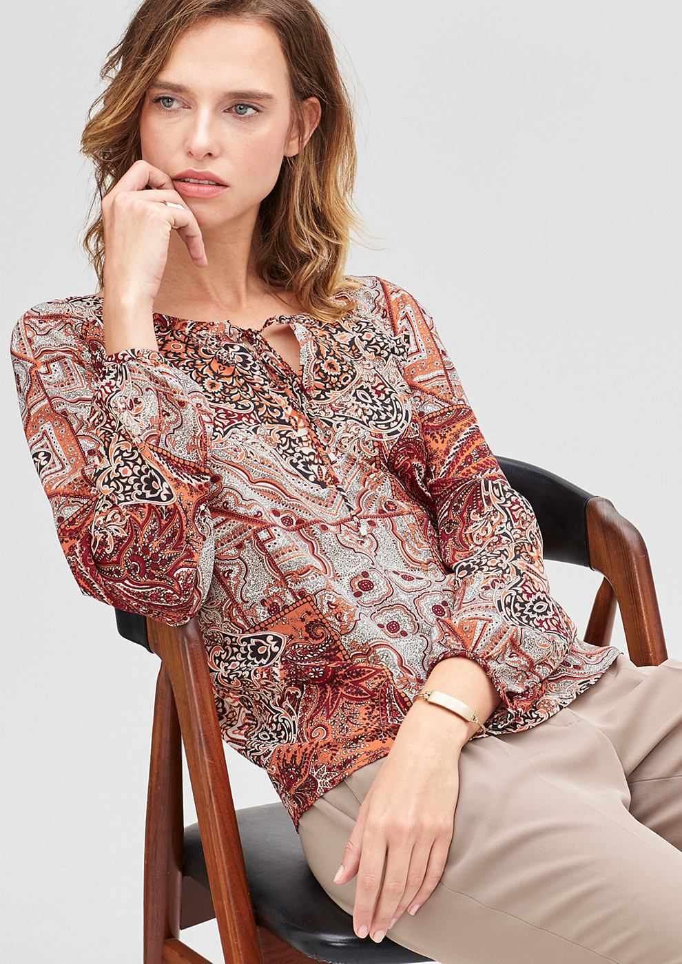 s.Oliver BLACK LABEL Blouse met decoratief bandje
