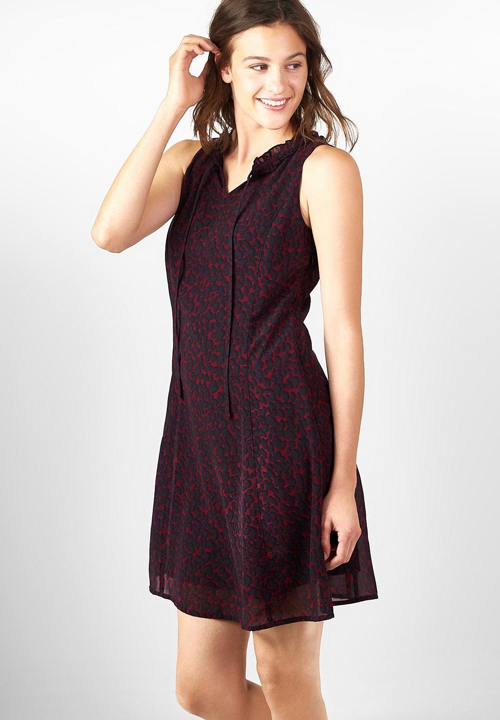 Street One Leo print jurk Elisa paars