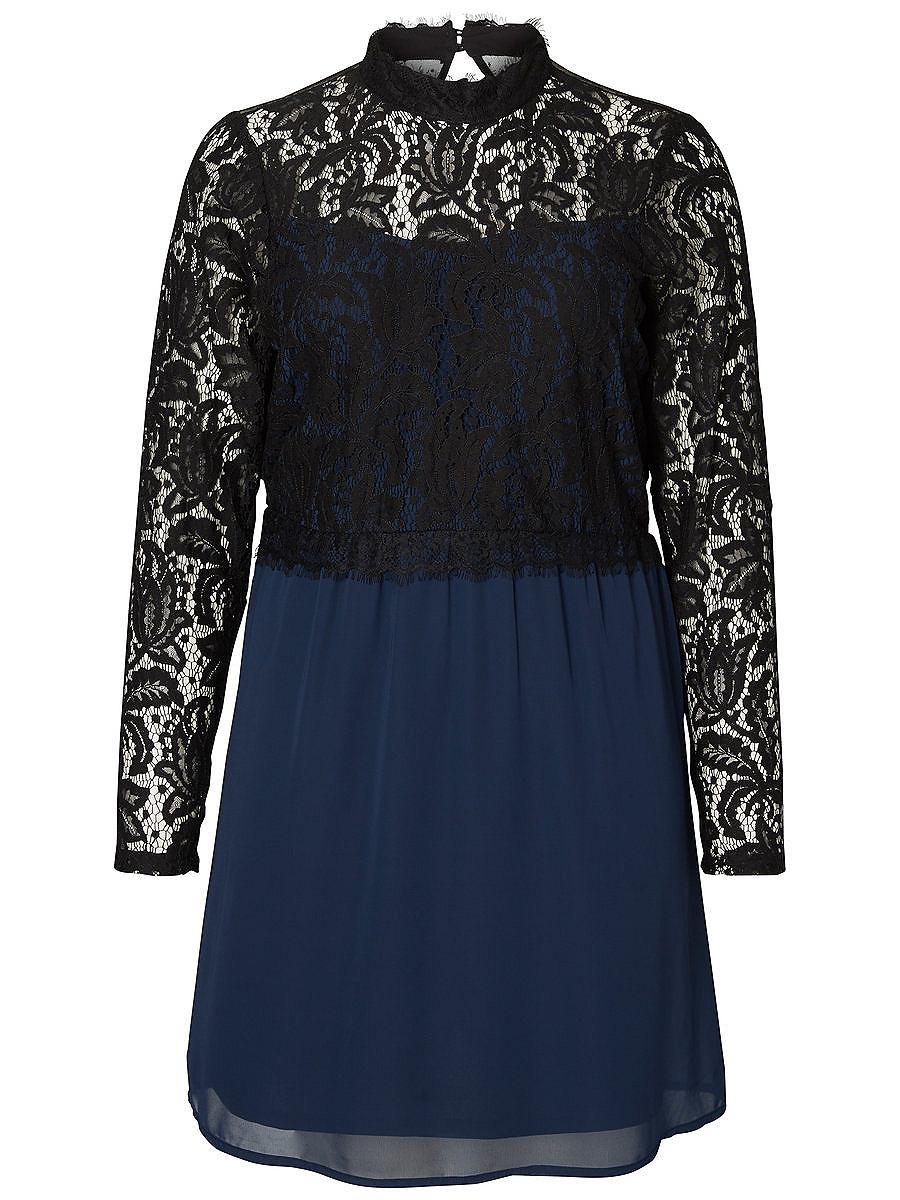 Junarose Kant gedetailleerde jurk blauw