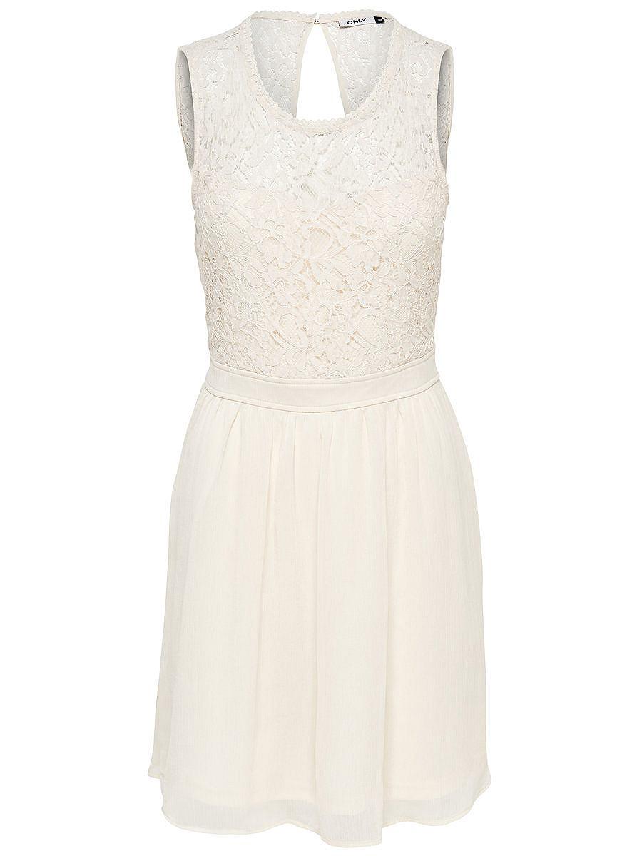 ONLY Mouwloze kanten jurk wit