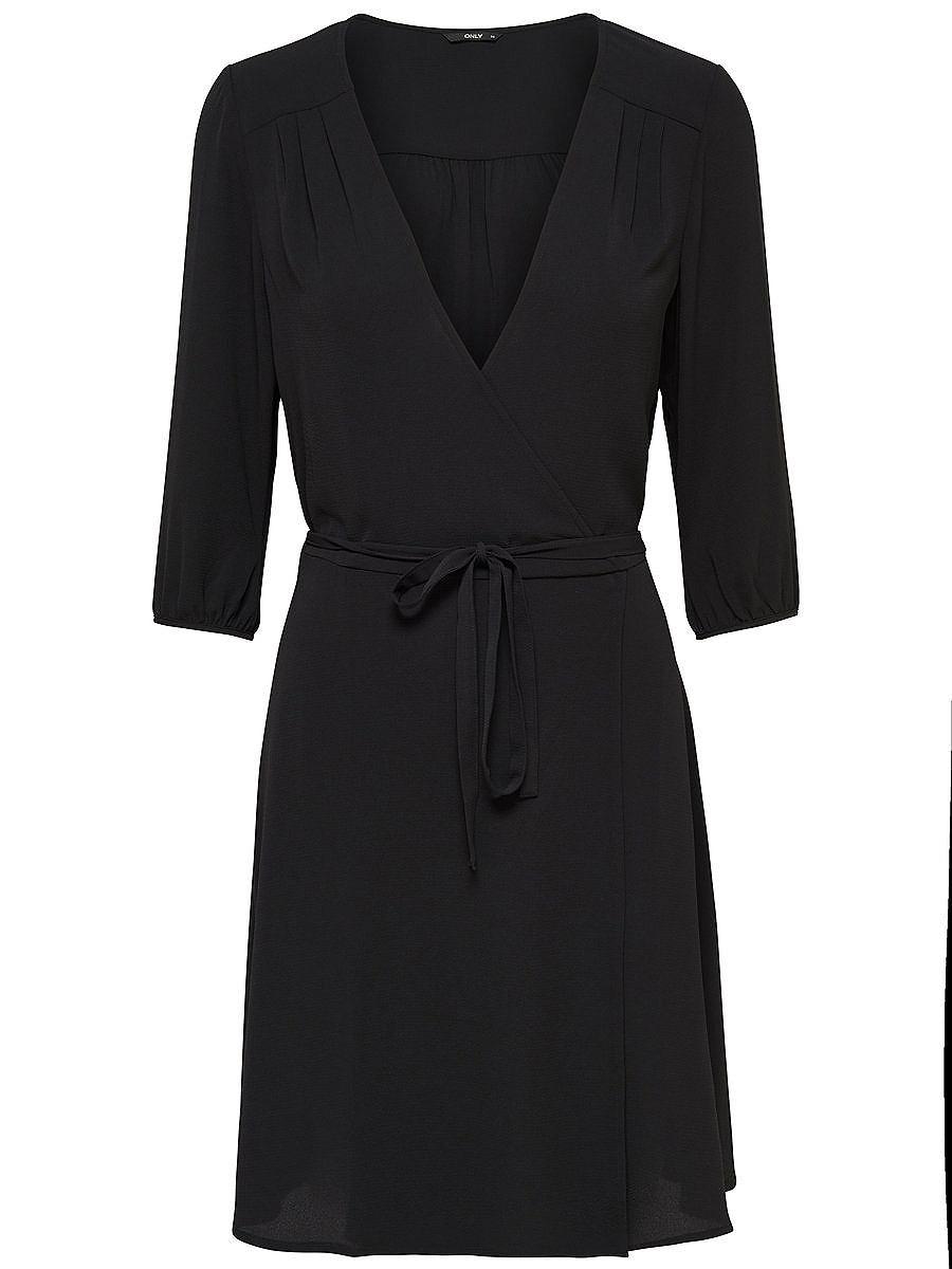 ONLY 3/4-mouw jurk zwart