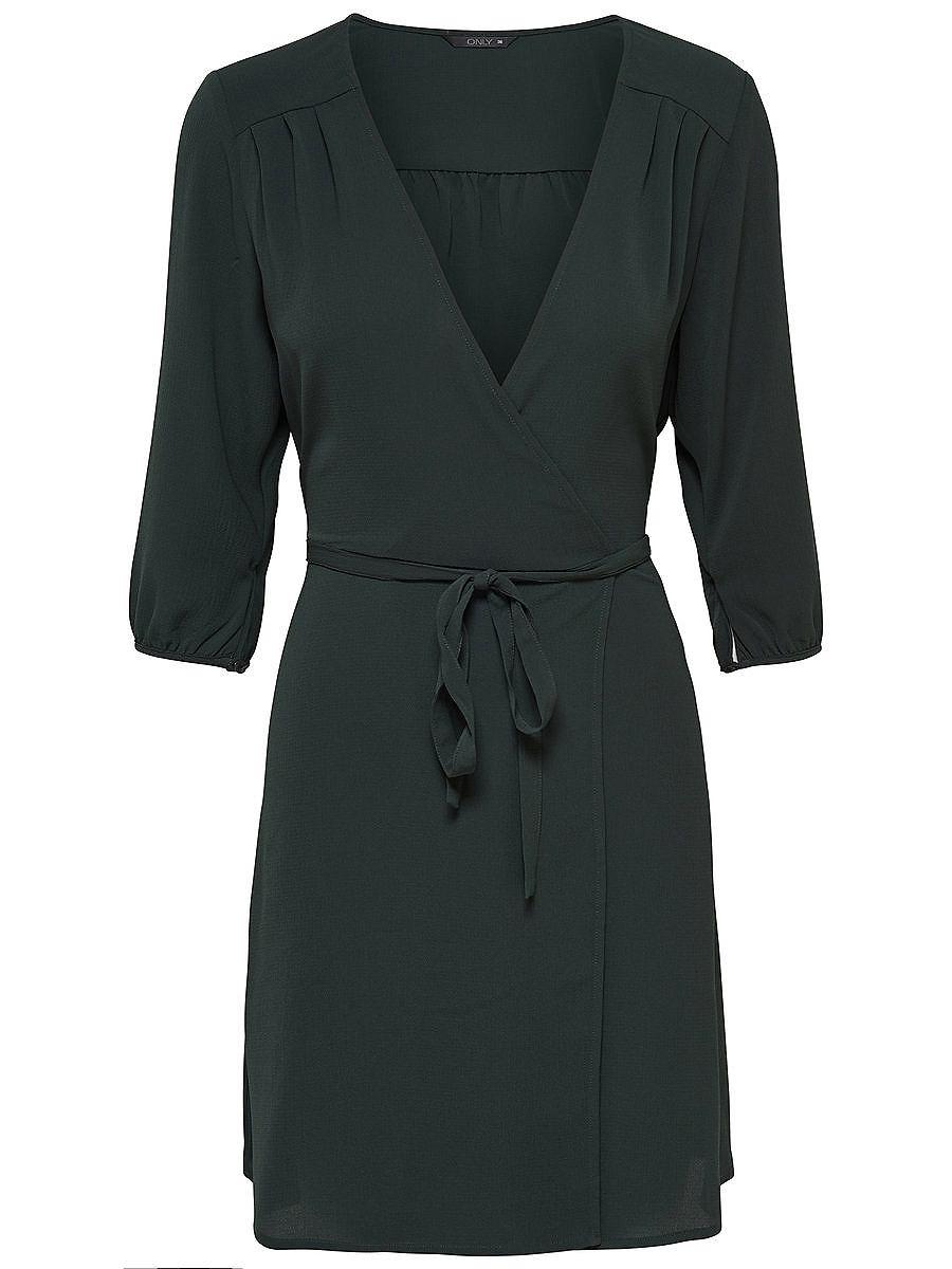 ONLY 3/4-mouw jurk groen