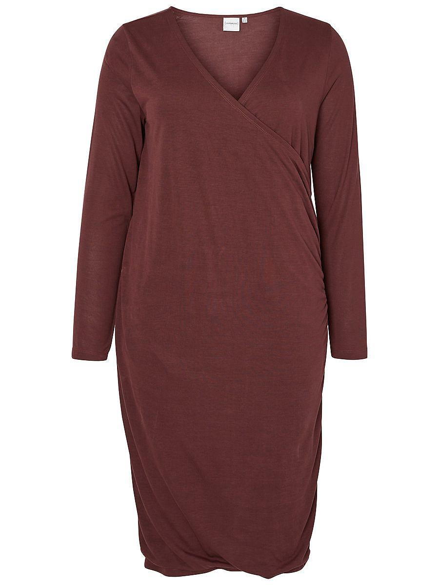 Junarose Lange mouw jurk bruin