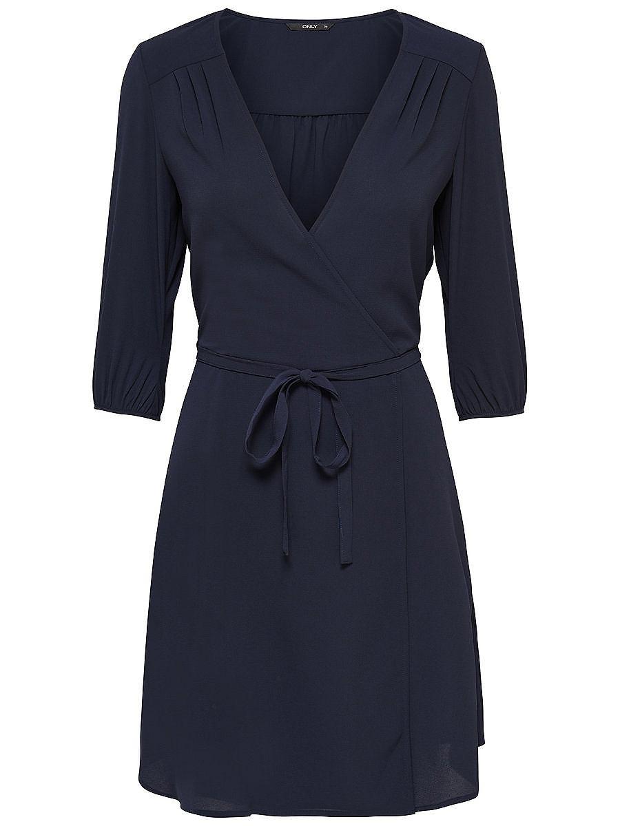 ONLY 3/4-mouw jurk blauw