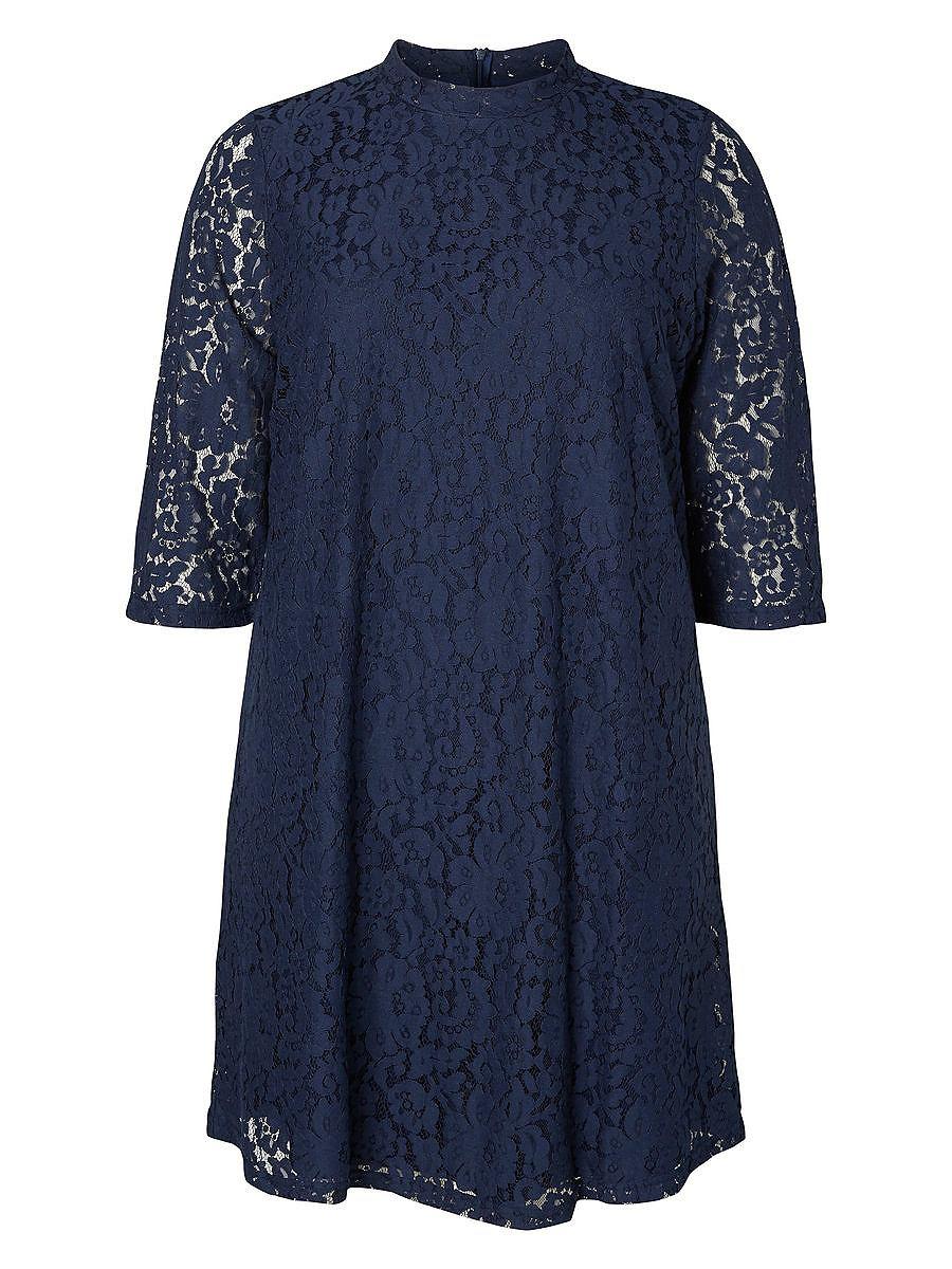 Junarose A-lijn jurk blauw